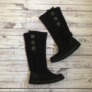 Classic Cardy II Knit UGG Boots sz 7
